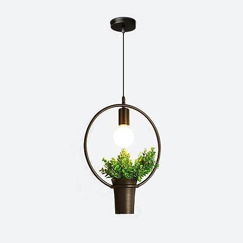 Plafonnier à tête unique en pot Plafonnier à suspension décorative (Taille   Style B)