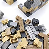 120 Pieces Masonry Brick Wall Blocks Compatible for Major Brand Parts Walls Building Toy for Balcony