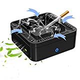 Multifunctional Smokeless Ashtray, USB Rechargeable Ashtray for Car Indoor Outdoor Home, Air Purifier Multifunctional Negative Ion Air Fresher for Home Car Indoor and Outdoor