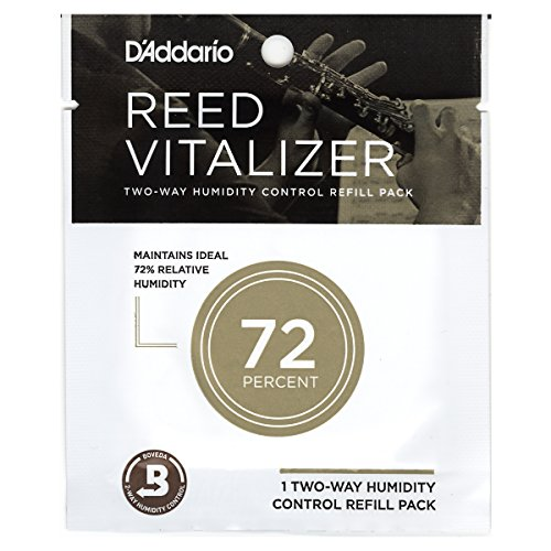 D'Addario Woodwinds Reed Vitalizer Humidity Control - Single Refill Pack, 72% Humidity