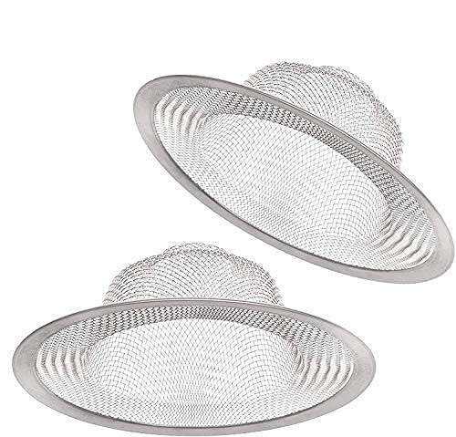 2 PCS Stainless Steel Sink Strainer 4.5