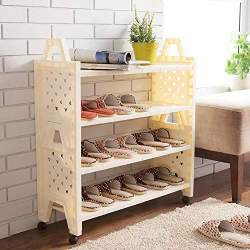 YLCJ Het kunststof rek van het schoenenrek kan meer op elkaar worden geplaatst, stofdicht, meerlagige schoenenkast (maat: 64 cm)