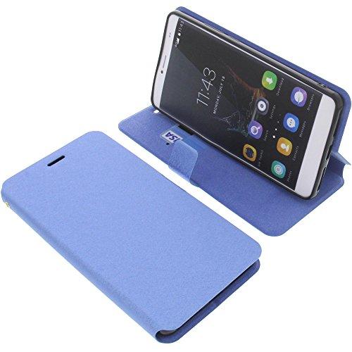 foto-kontor Tasche für Bluboo Maya Max Book Style blau Schutz Hülle Buch