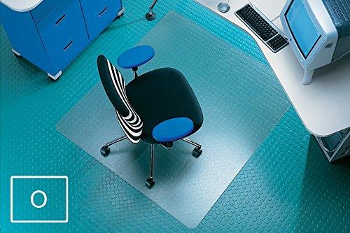 Transparente Bodenschutzmatte, 110 x 120 cm, aus Makrolon®, Schutzmatte für Parkett-, Laminat- & PVC-Böden, 17 weitere Größen und Formen wählbar
