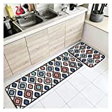 GO-AHEAD Alfombras Cocina Estera de Cocina Antideslizante Abstracto geométrico Gruesas Tiras de la decoración para el hogar Alfombrilla de Piso