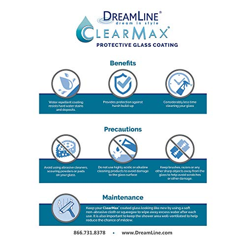DreamLine Unidoor Plus 58-58 1/2 in. W x 72 in. H Frameless Hinged Shower Door in Brushed Nickel, SHDR-245807210-04