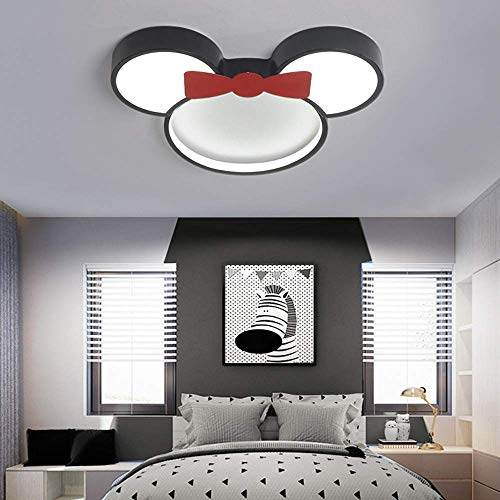 WGFGXQ Plafonnier LED pour Chambre d'enfant 6000K lumière Blanche Abat-Jour en métal Acrylique Disney Minnie Lampe de Plafond garçon Fille Chambre d'enfant Chambre d'étude Lampe de Plafond intérieu