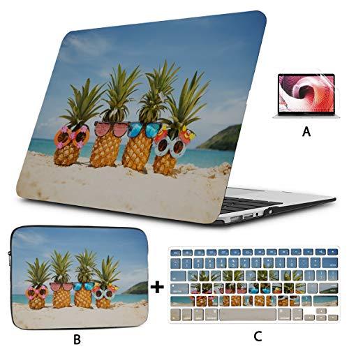 Mac Air Estuche para portátil Un par de Atractivas piñas Estuche para Macbook Air 13 Carcasa rígida Mac Air 11'/ 13' Pro 13'/ 15' / 16'con Funda para portátil para Macbook Versión 2008-2020