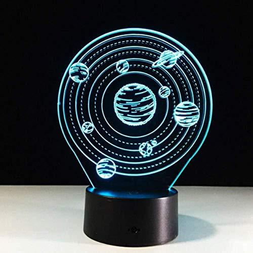 3D Slideshowthe Universe Een planet 3D-lamp creatieve kleine bureaulamp het zonnesysteem nachtlampje 7 kleuren hangend licht als cadeau voor kinderen