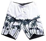 MADHERO Men Boardshorts Swim Trunk No Mesh Reversible Swim Suits A Size L