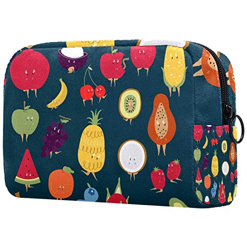 FURINKAZAN Tropical Fruit Travel Makeup Bag for Toiletries Bag Makeup Pouch Men & Women