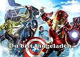 VSW The Avengers Einladungskarten 12er Set inkl. 12 Umschläge M5