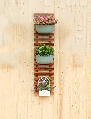 XIAOLIN- Cadre de mur en bois massif Cadre décoratif en bois suspendu Flower Rack Grille en bois de bois Racks de fleurs en plein air Carbonated Clôture Rack (une variété de tailles peuvent être librement combinés) --Cadre de finition de fleurs ( taille : 25*70cm )