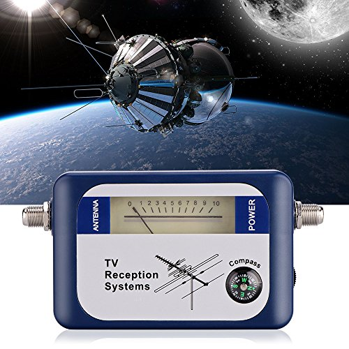 Onever DVB-T-locator digitale signaalzoeker met kompas antenne aanwijzer intensity meter antenne TV-ontvanger meer satellieten