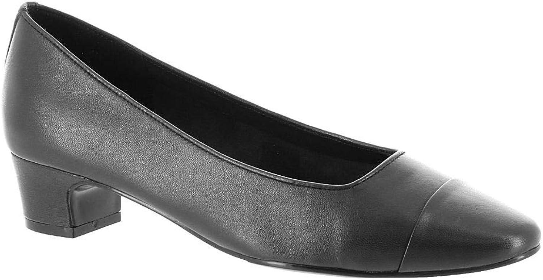 VANELi Womens Aleda Leather Cap Toe Classic Pumps