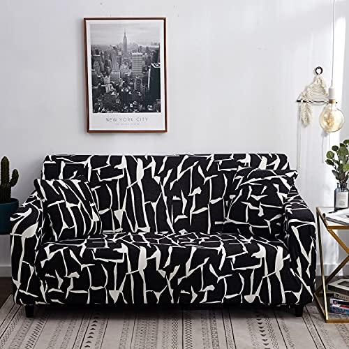 Funda de sofá con Estampado nórdico, Funda de sofá firmemente Envuelta, Funda de sofá elástica de Spandex, Adecuada para el sofá de la Esquina del Asiento A15 de 2 plazas