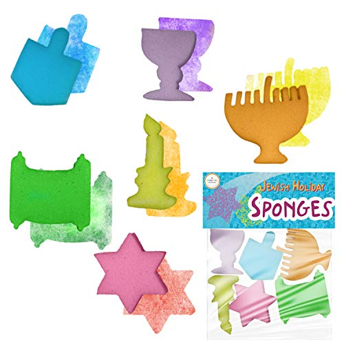 Jewish Holiday Sponge Shapes - Paint Fun Hanukkah Shapes - Fun for All Ages (Single)