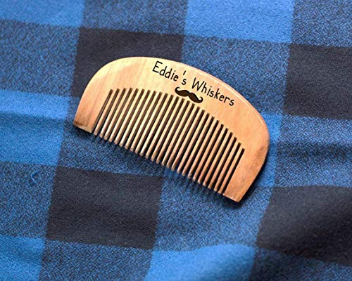 Kid Font His Whiskers Personalized Engraved Comb