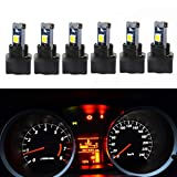 74 bulb led - WLJH 6Pack White Dash Lights PC74 Twist Locket Socket Wedge T5 LED Bulb 37 74 2721 3030SMD Dashboard Instrument Cluster Bulbs,Plug and Play