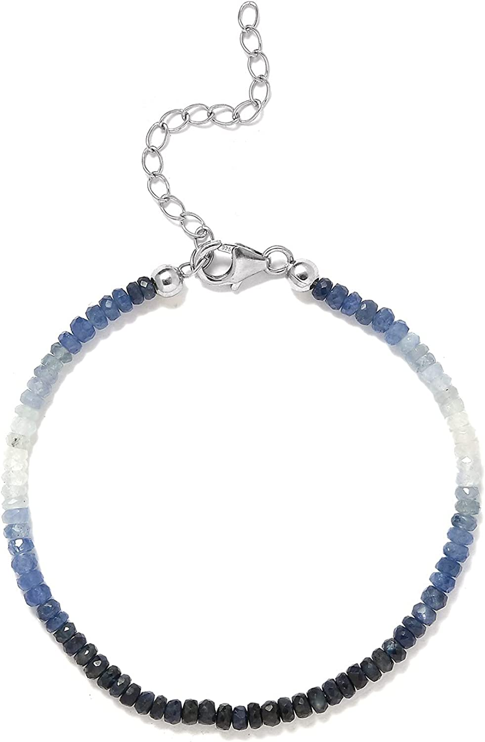 Shop LC 925 Sterling Silver Beads Ranking TOP19 Boston Mall Sapphire Pink Chakra S Therapy