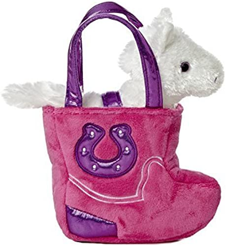 Aurora World Fancy Pal Pet Plush Carrier, Western Rosa Stiefel by Aurora World