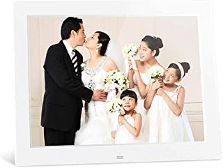 Digital Photo Frame, 12 Inch LED Backlight High-Definition Electronic Advertising Media Player with Photo/Music/Video Play...