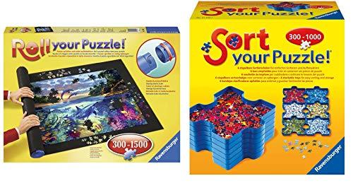 Ravensburger 17956 - Roll your Puzzle Puzzlematte & 17934 - Sort Your Puzzle