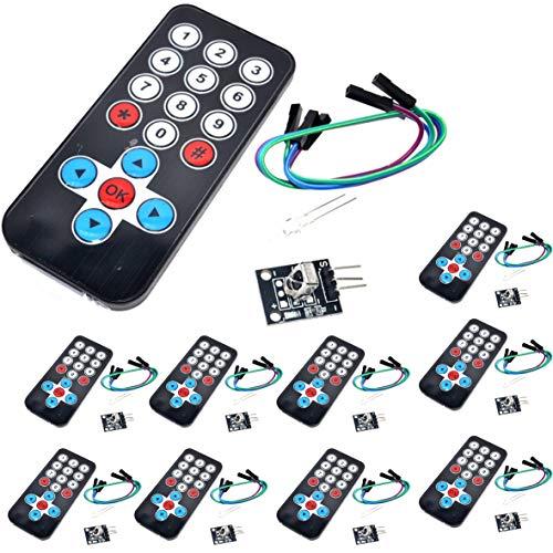 Morismoon 10pack/lot infrarrojos IR inalámbrico Mando a distancia Kit DIY HX1838 para Arduino Raspberry Piy