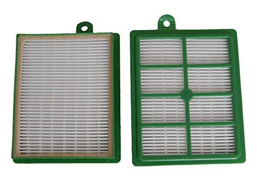 vhbw 2x Ersatz Allergie Hepa 13 Filter Set Philips Performer FC9110/09 Specialist Animal, FC9150/01, FC9150/02, FC9184/01 wie AEF 12, H12.