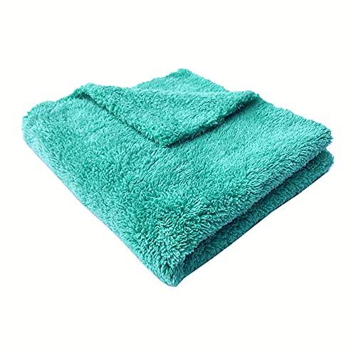 QWSNED Toalla, toalla de limpieza de coche, toalla infinita de microfibra azul y verde, paño de lavado de coche súper absorbente, detalles del coche y eliminación de polvo