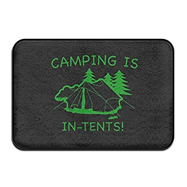 Camping Is In Tents Square Doormat Fashions Indoor Door Mats Printing Classic Non Slip Doormat Front Door Mats