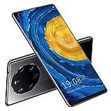 Smartphone, Teléfono De Pantalla Grande De Almacenamiento Ampliado De 2 + 16GB 128GB para Llamadas Telefónicas para Dispositivos Espaciales(Negro)