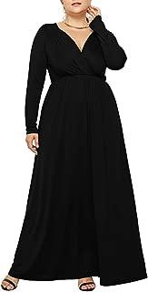 Womens Long Sleeves Long Plus Red Dress Maternity Sexy Plain Pregnancy Flowy Dress 3XL Dresses