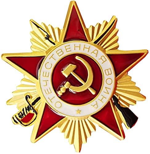 FTYYSWL Medalla de guerra patriótica soviética, broche de recuerdo de la Segunda Guerra Mundial, insignia de medalla militar, insignia rusa de la orden trikoty de la guerra patriótica