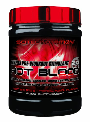 SCITEC Hot Blood 3.0 300g - PRE WORKOUT - BLUE GUARANA'