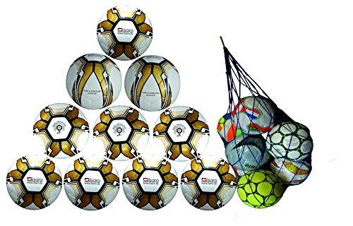 Lisaro Top Fussball Gr. 5 Top-Training Fußball, 10 bälle+ Gratis Ballnetz