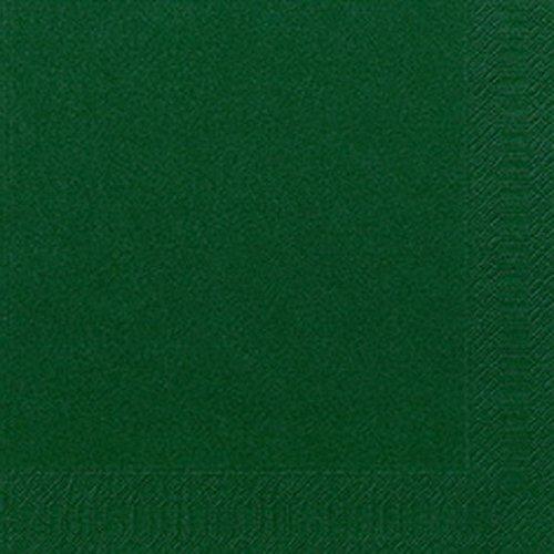 Duni Zelltuch-Servietten jägergrün 33x33cm 3-lagig 1/4-Falz 250 Stück