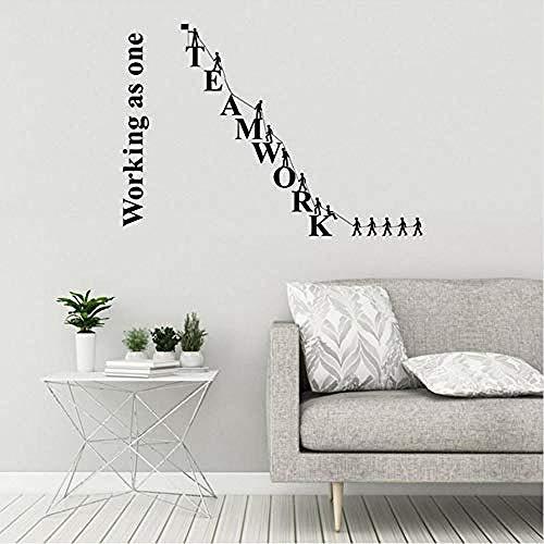 ttymei Teamwork Vinyl Quote Quote Office Spruch Teamwork Business Aufkleber Wandbild 59X42cm