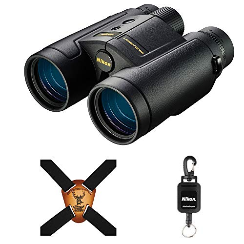 Nikon 10x42 LaserForce Rangefinder Binocular Bundle with Nikon Retractable Rangefinder Tether & Binocular Harness
