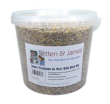 Britten & James Nourriture Supermix Extra Premium pour Oiseaux Sauvages dans un récipient Stay fresh de 5 L (4 kg)