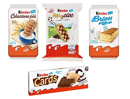 Testpaket Kinder Ferrero Brioss Colazione più Panecioc brioche snack cards