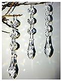 Hot 30PCS Acrylic Crystal Beads Garland Chandelier Hanging Wedding Party Celebration Decor (Style 4)