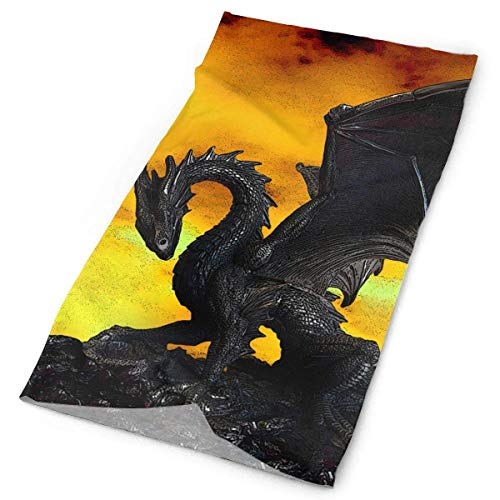 Women Men Outdoor Sports Bandana Headbands Cool Fire Dragon Multifunctional Magic Scarf for Outdoor and Sport Activities,Running,Hiking,Biking & Riding,Hunting,Yoga Workout