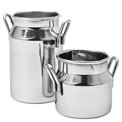 Utopia F91040 Poêles/Seaux et casseroles en acier inoxydable, Présentation, Pot à lait, 2,5 g, 7 cl (lot de 6)