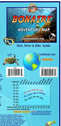Bonaire Adventure Map Dive Drive & Bike Guide Franko Maps Waterproof Map