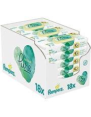 Pampers Pure Coconut Babydoekjes - Voor Reiniging & Hydratatie - 18 x 42 Billendoekjes