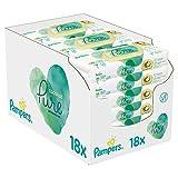 Pampers Coconut Pure - Toallitas húmedas (18 paquetes, 4,52 kg)
