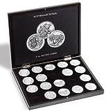 Leuchtturm 347920 VOLTERRA Münzkassette für 20 Australian Koala Silbermünzen in Original Münz-Kapseln   1 OZ.   schwarz  