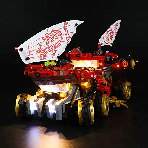 LODIY Beleuchtung Licht LED Light Beleuchtungsset für Lego 70677 Ninjago Wüstensegler (Nicht Enthalten Lego Modell)