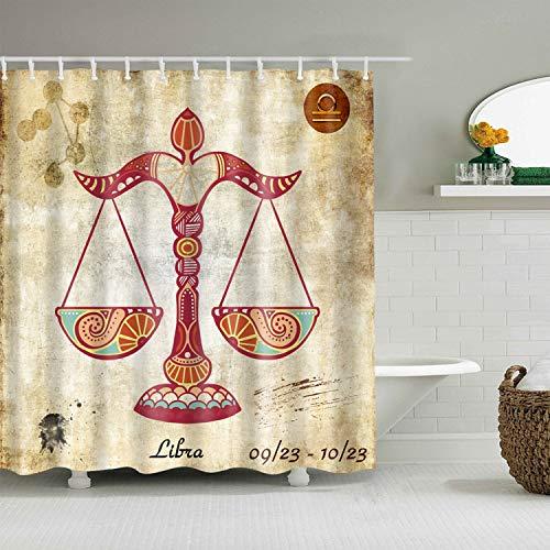Cortina de ducha creativa lavable, estilo egipcio retro 3D, cortina de ducha para baño, cortina de ducha, tamaño A4, 90 x 180 cm